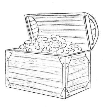 Как нарисовать сокровища