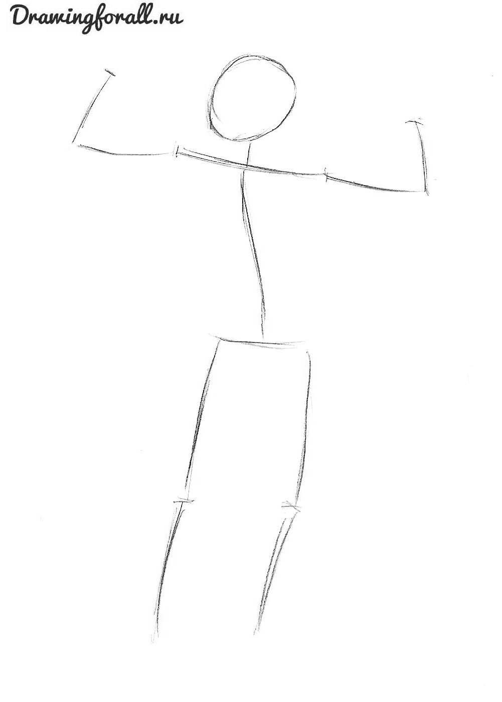 как нарисовать качка