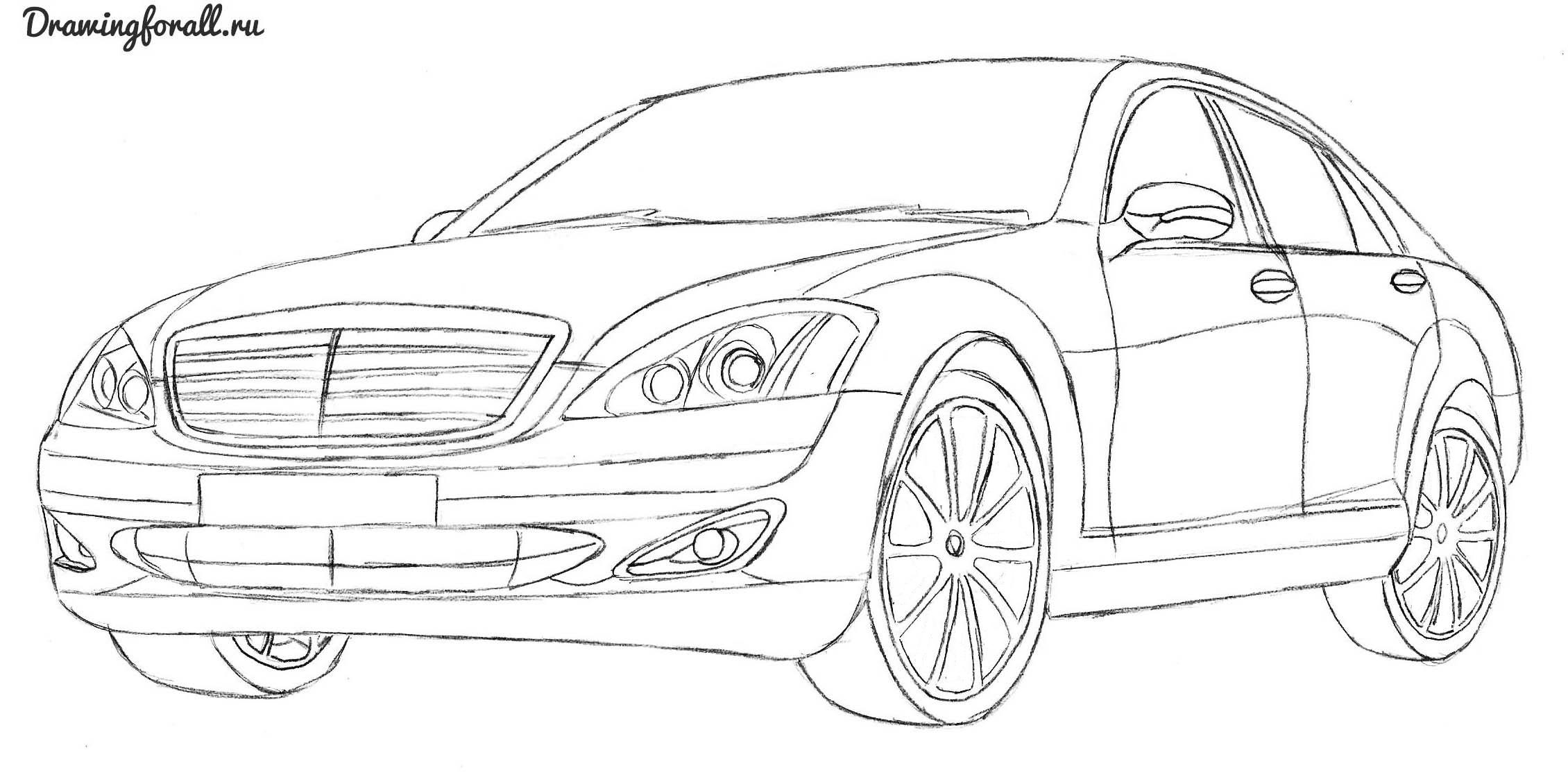 уроки рисования автомобилей