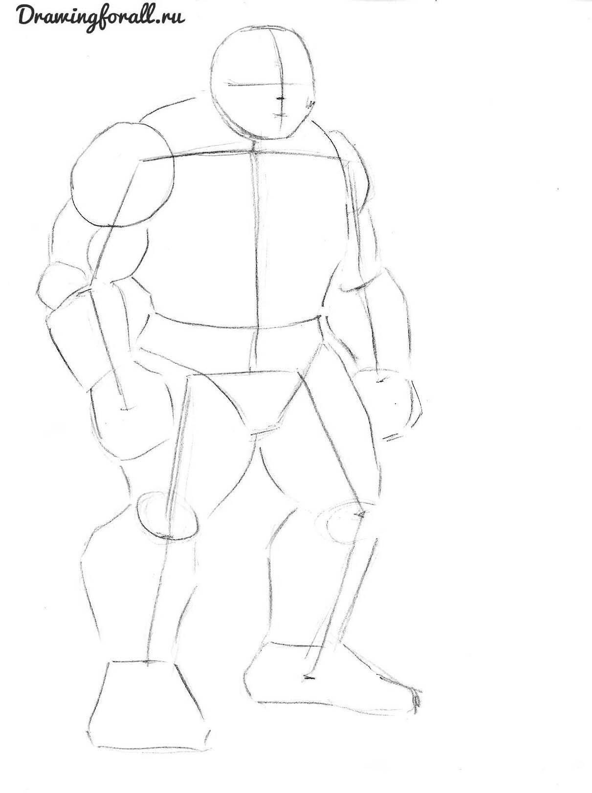как нарисовать халка карандашом поэтапно