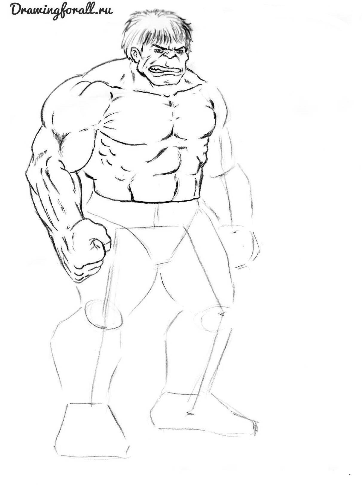 как нарисовать супергероя
