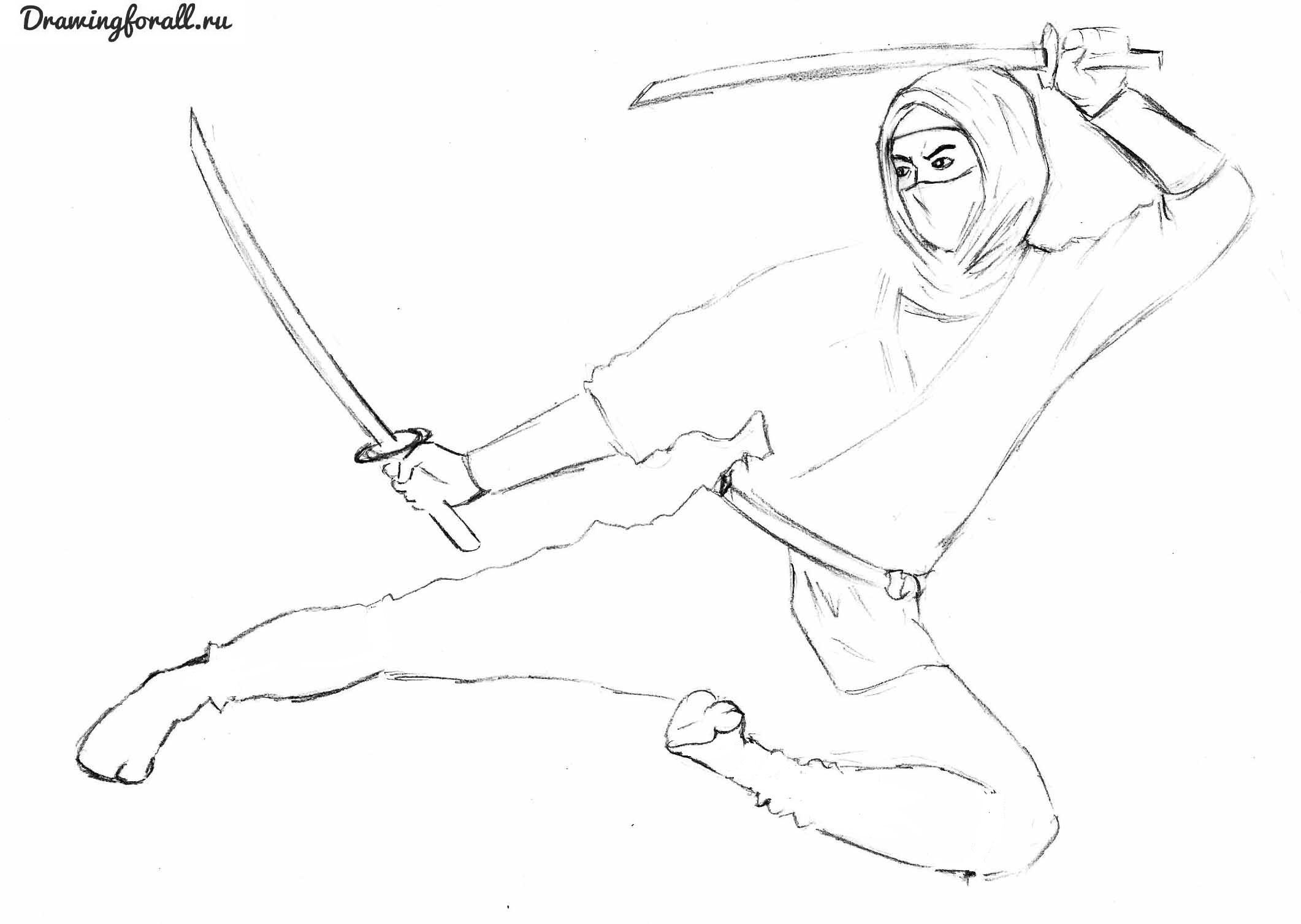 ниндзя рисунок