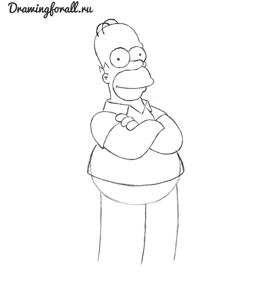 как нарисовать гомера