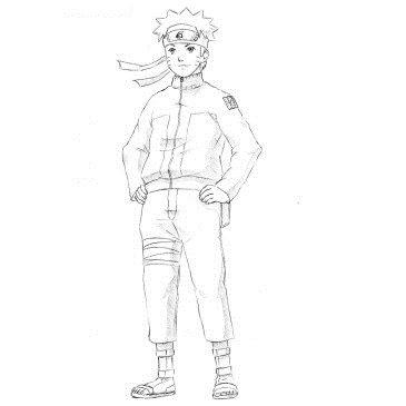 Как нарисовать Наруто