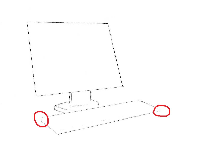 Как-нарисовать-компьютер-карандашом