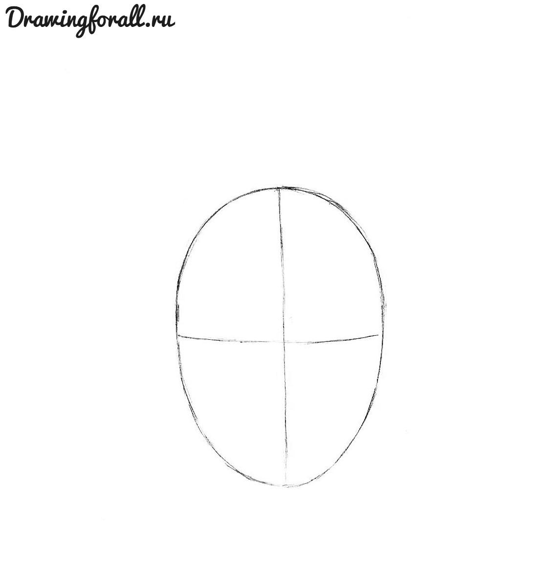 как нарисовать аниме лицо карандашом
