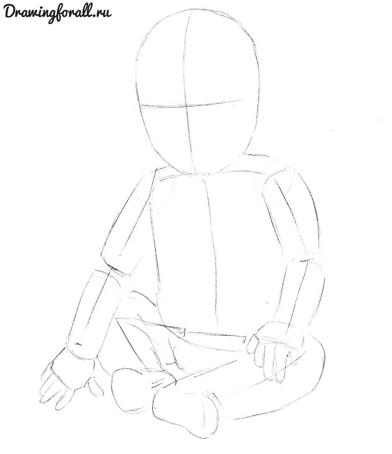 как нарисовать ребенка поэтапно