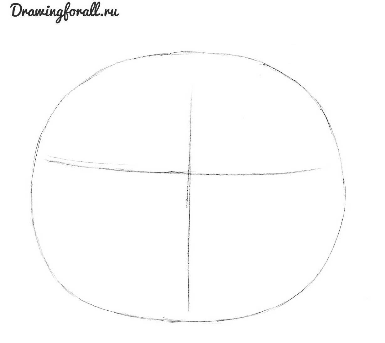 как нарисовать тыкву на хэллоуин карандашом