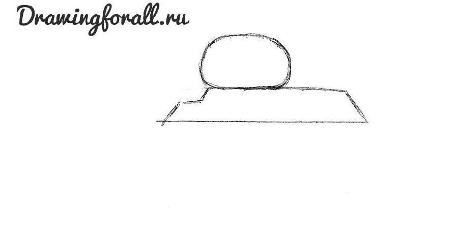 как нарисовать танк для ребенка