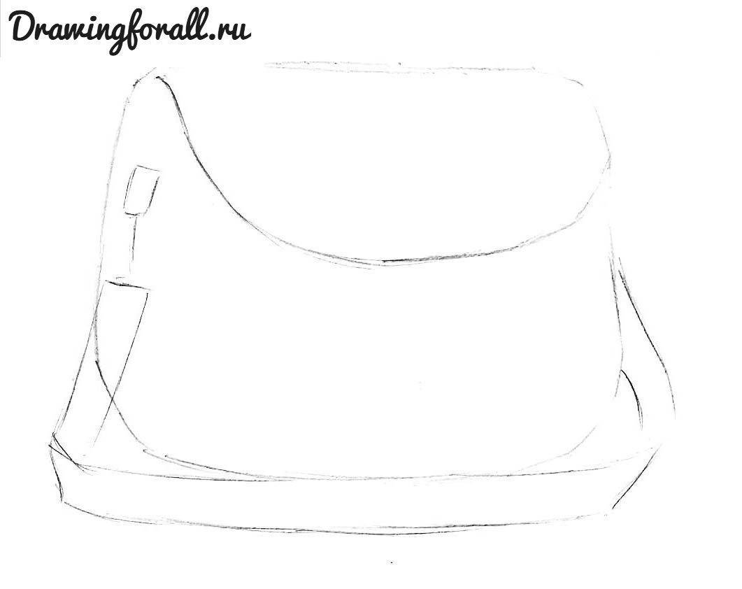 b679923a2e0f Рисунок женской сумки. Как украсить кожаную сумку своими руками ...