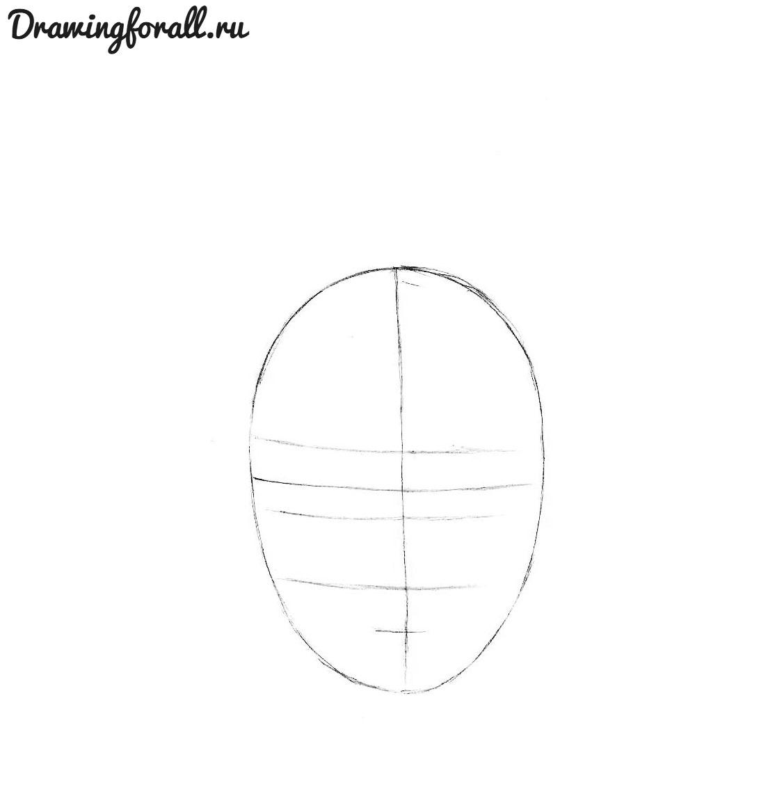 как карандашом нарисовать аниме лицо