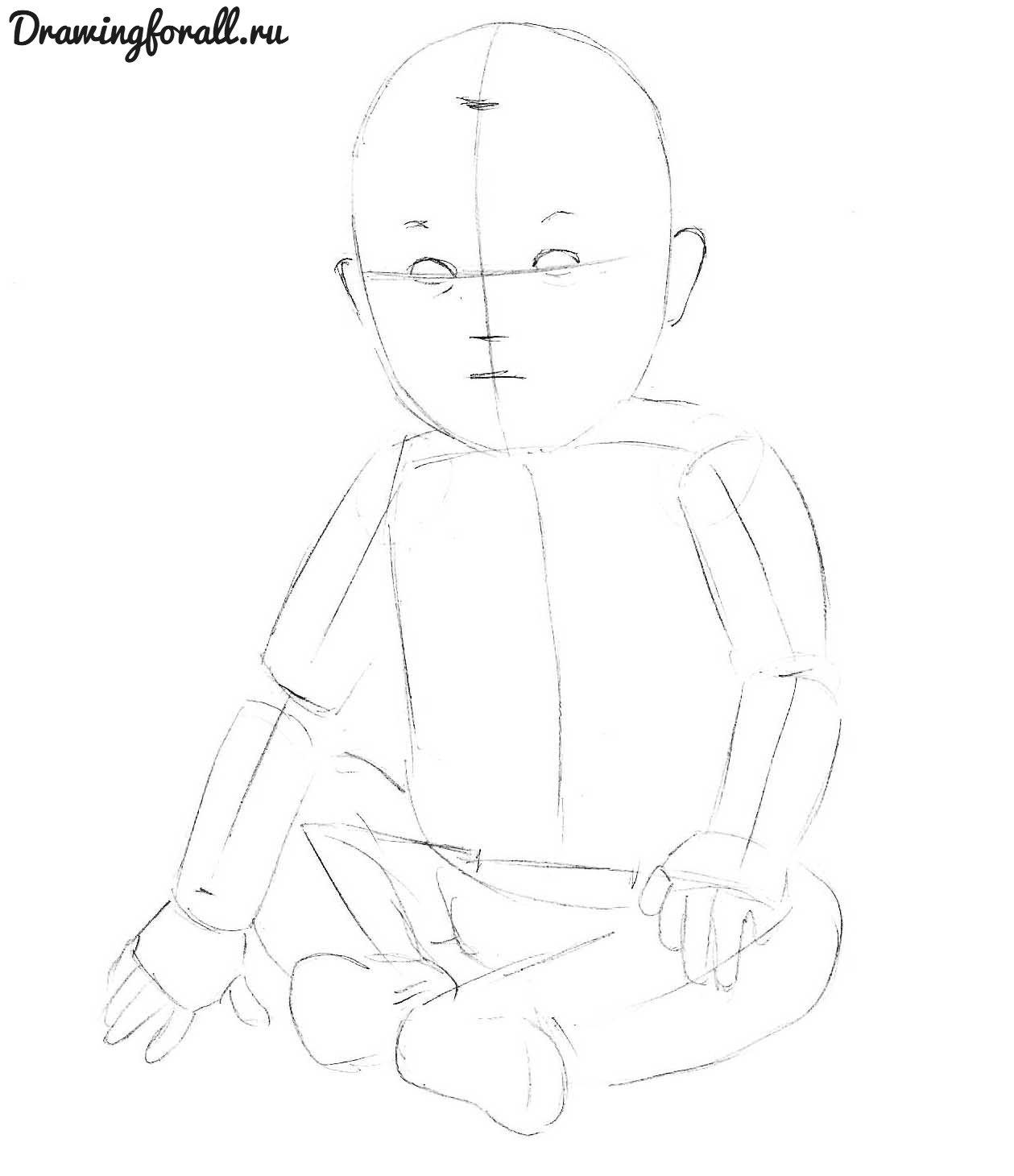 как нарисовать ребенка карандашом
