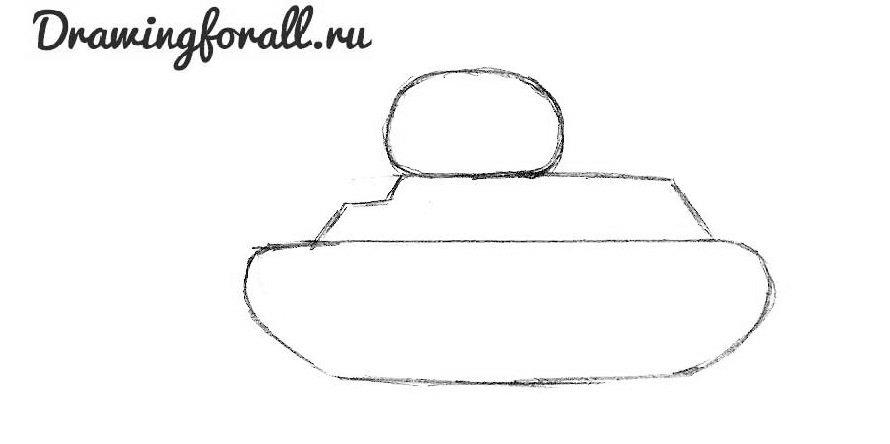 как нарисовать танк ребенку