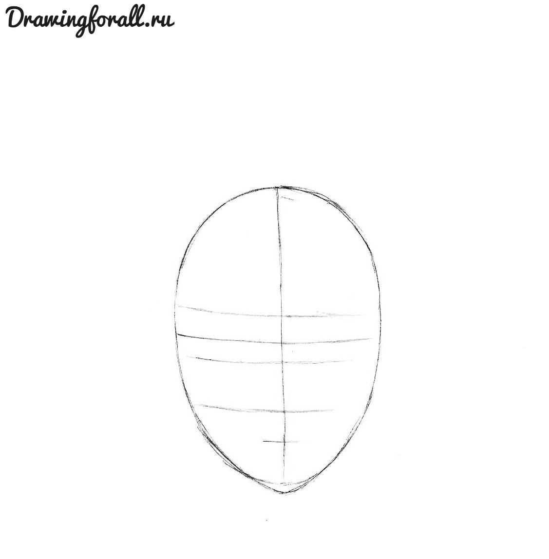 как нарисовать аниме лицо парня