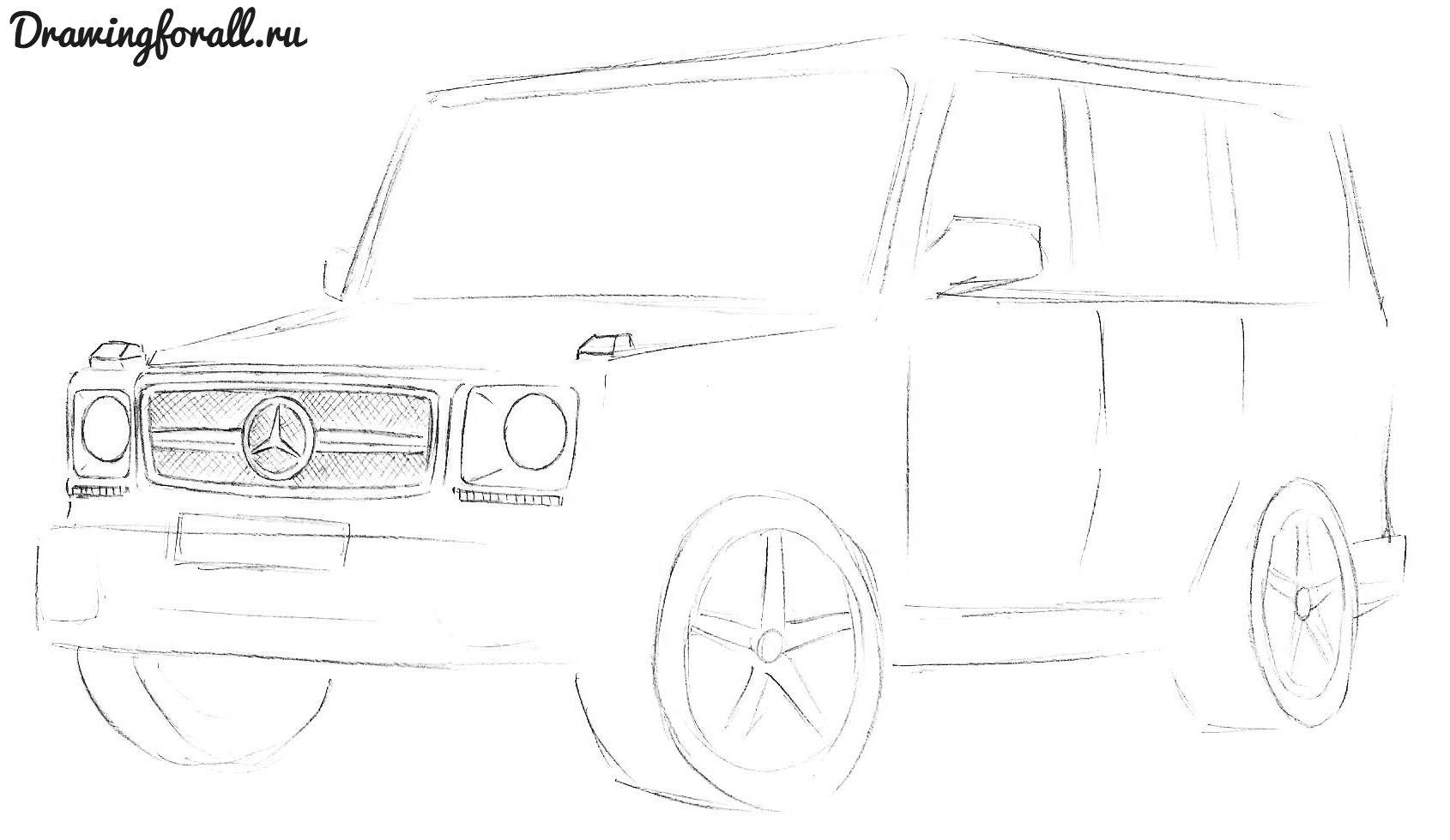 Машина гелик рисунок