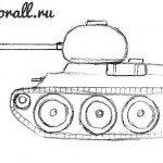 Как нарисовать танк для детей