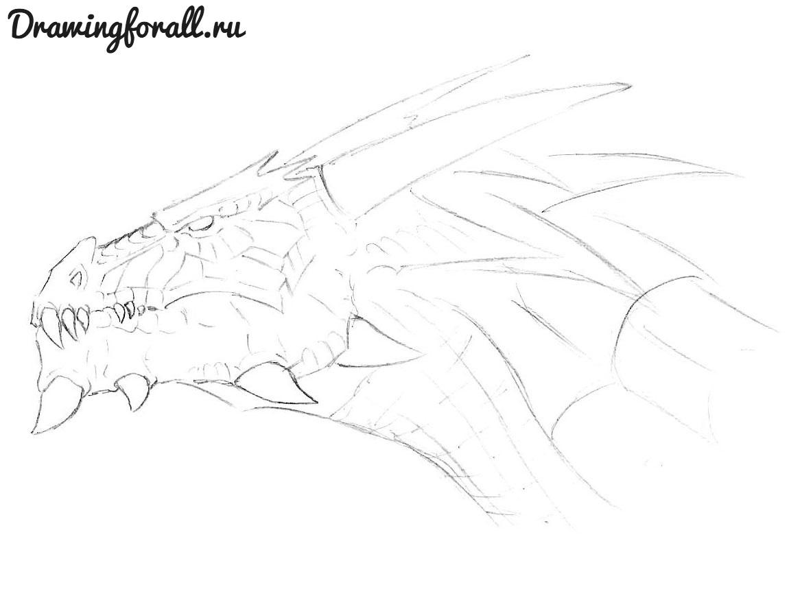 как красиво нарисовать дракона
