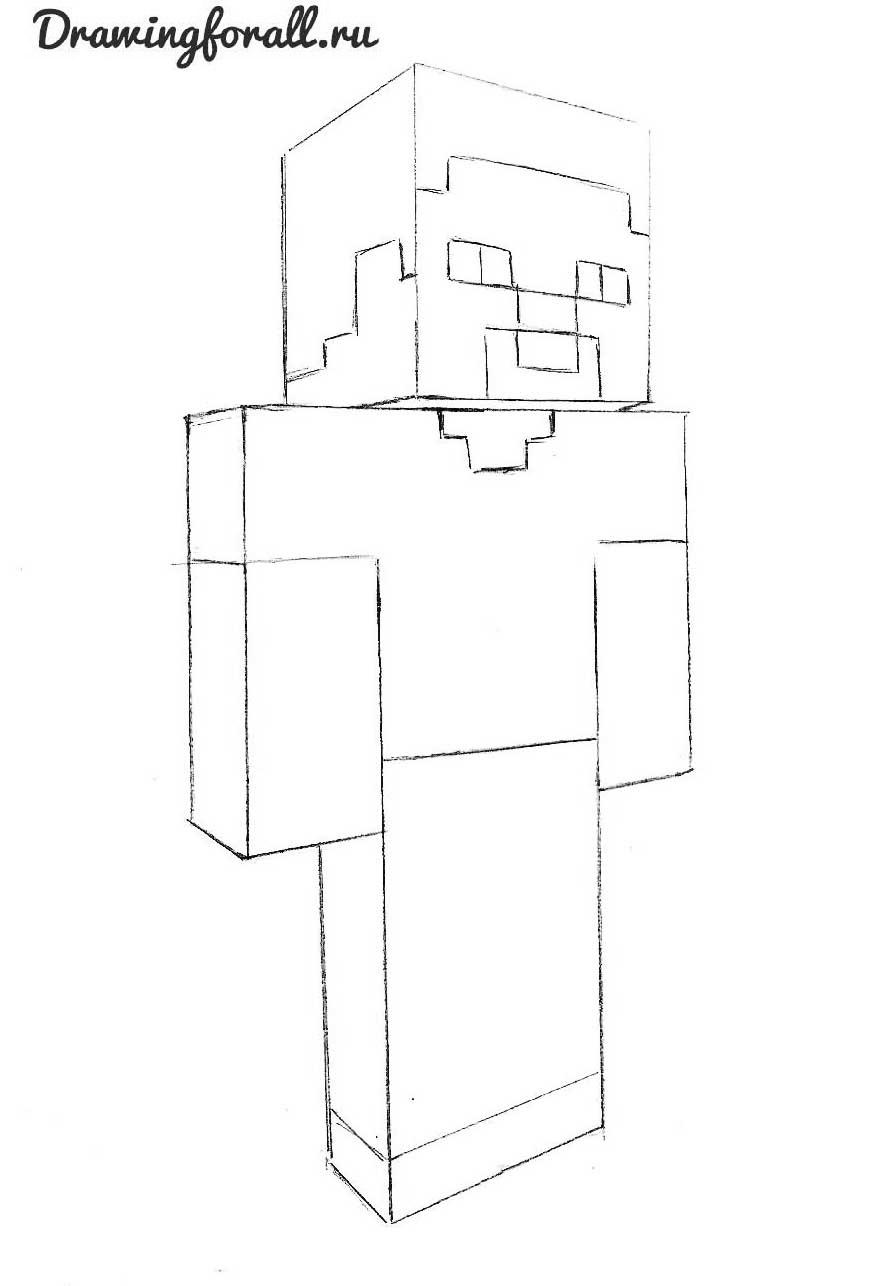 как нарисовать человека из майнкрафт