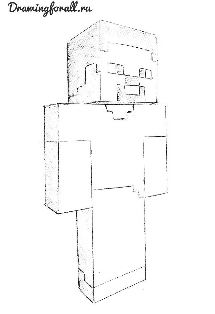 Рисовать по клеточкам майнкрафт стива