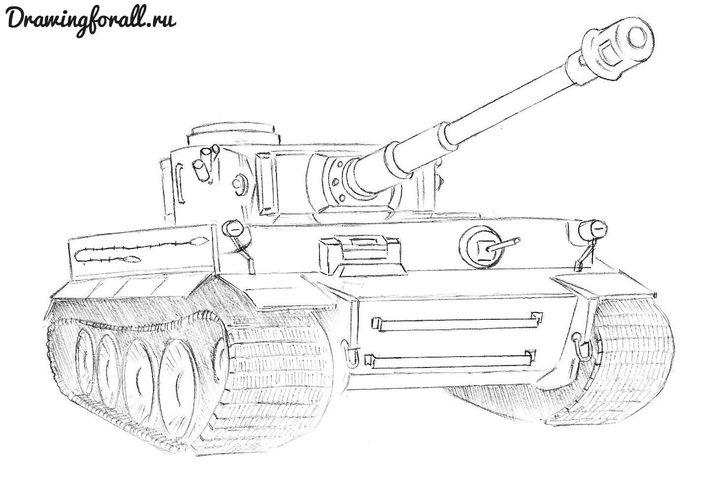 как красиво нарисовать танк
