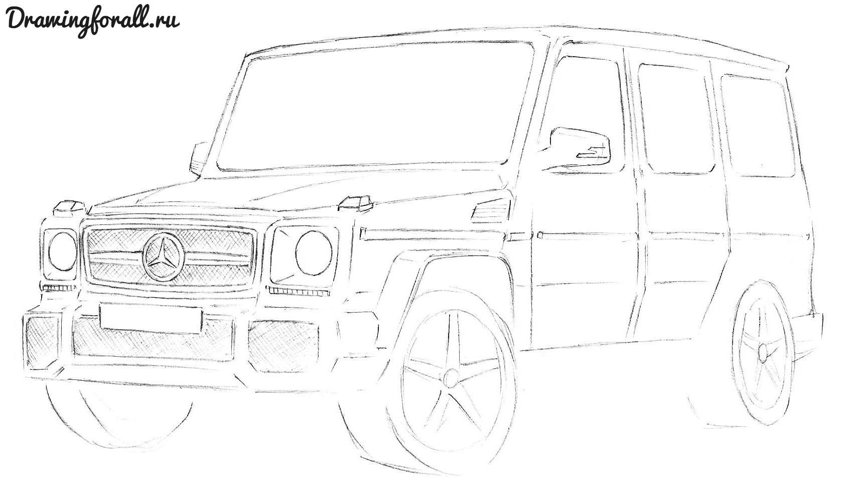 Как нарисовать gelandewagen