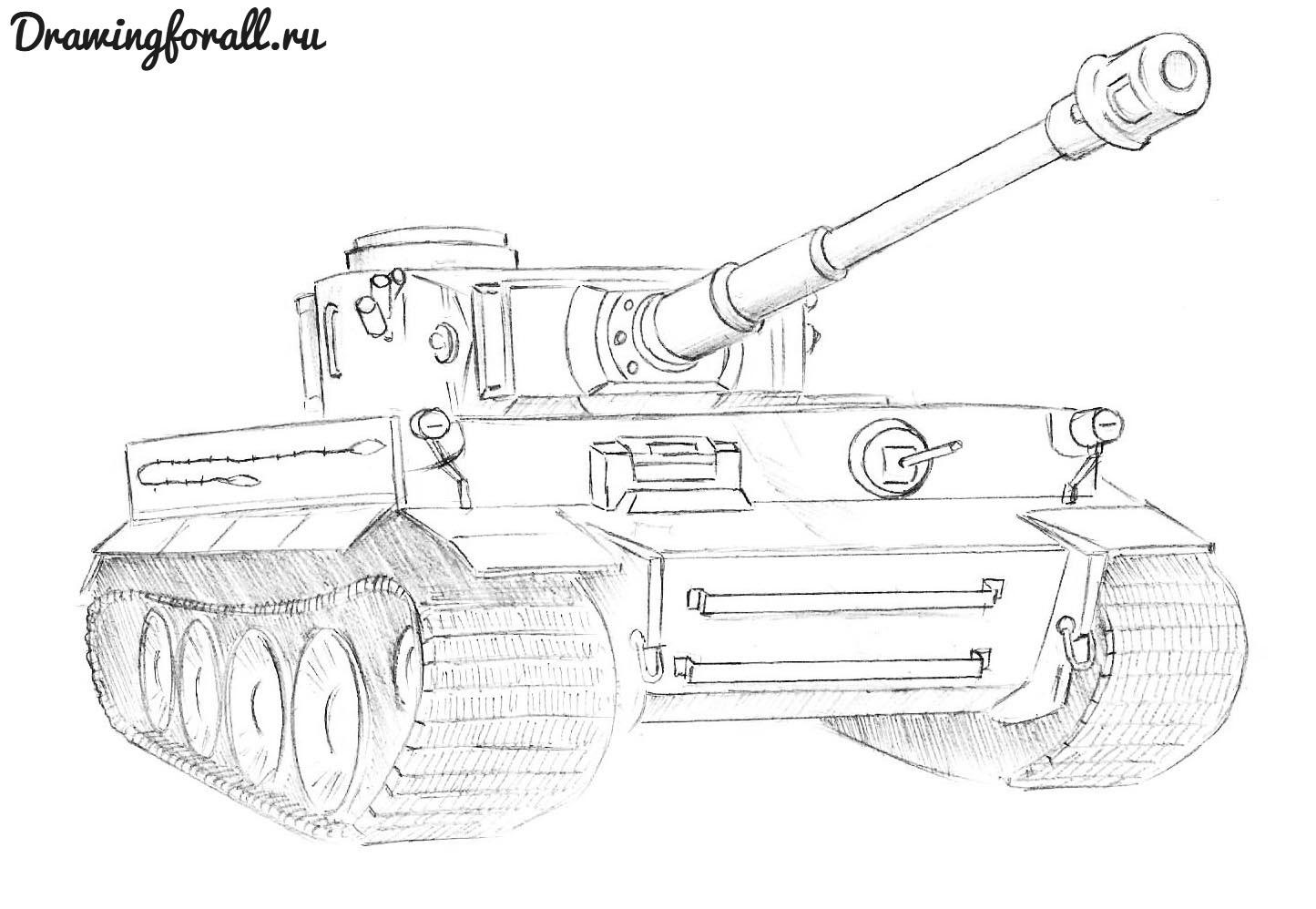 Как нарисовать танк полегче