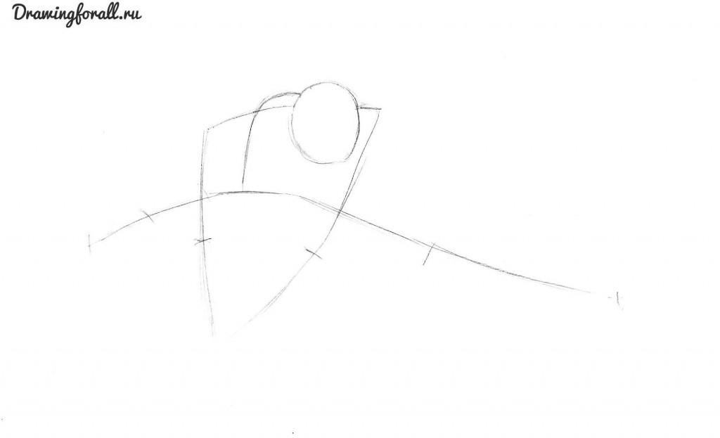 как нарисовать анти венома карандашом