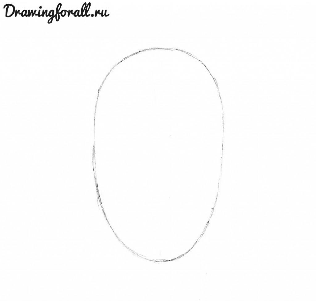 как нарисовать голову росомахи