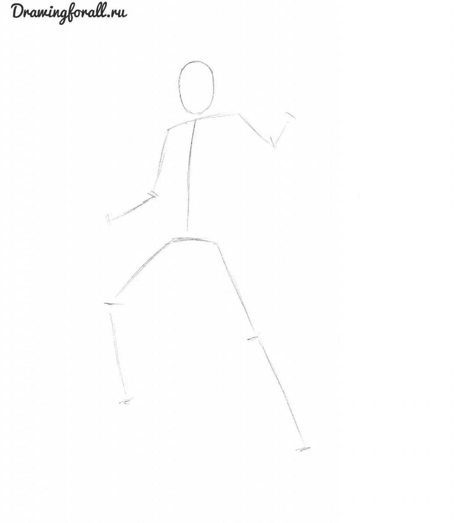 как нарисовать призрачного гонщика