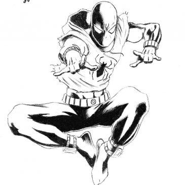 Как нарисовать Бена Рейли, Алого Человека-Паука