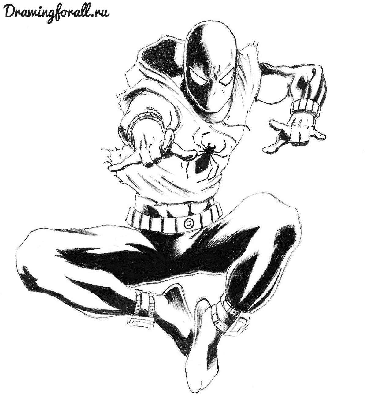 картинки для срисовки человек паук