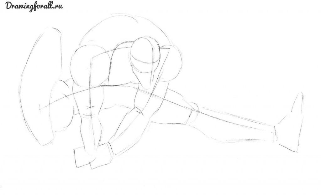 как нарисовать анти венома карандашом поэтапно