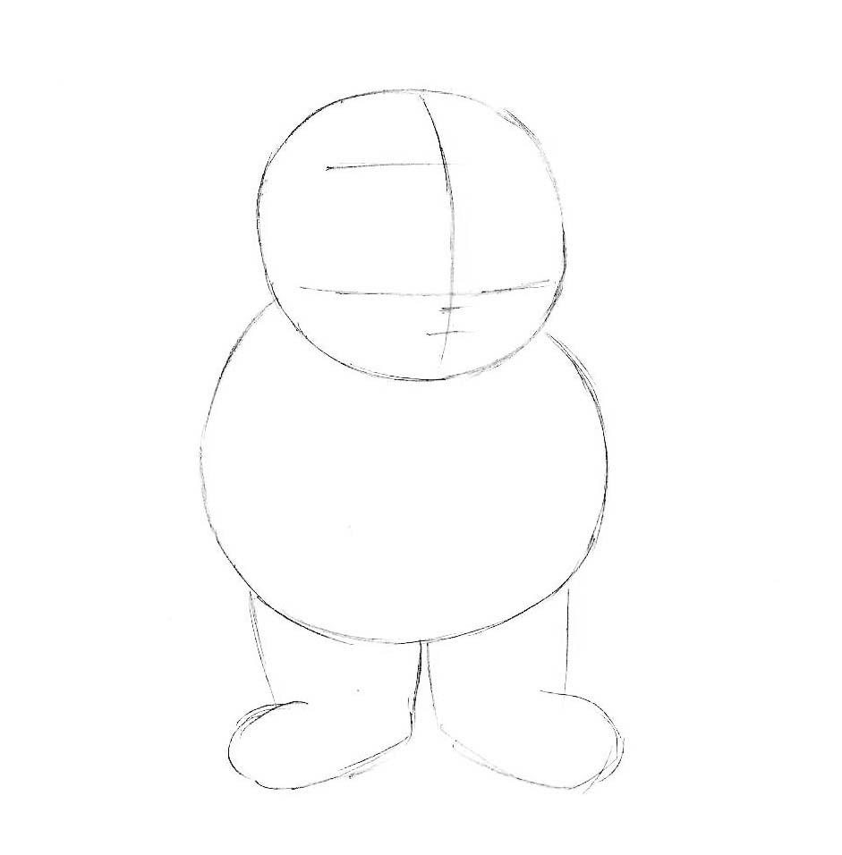 как нарисовать персонажа мультиков
