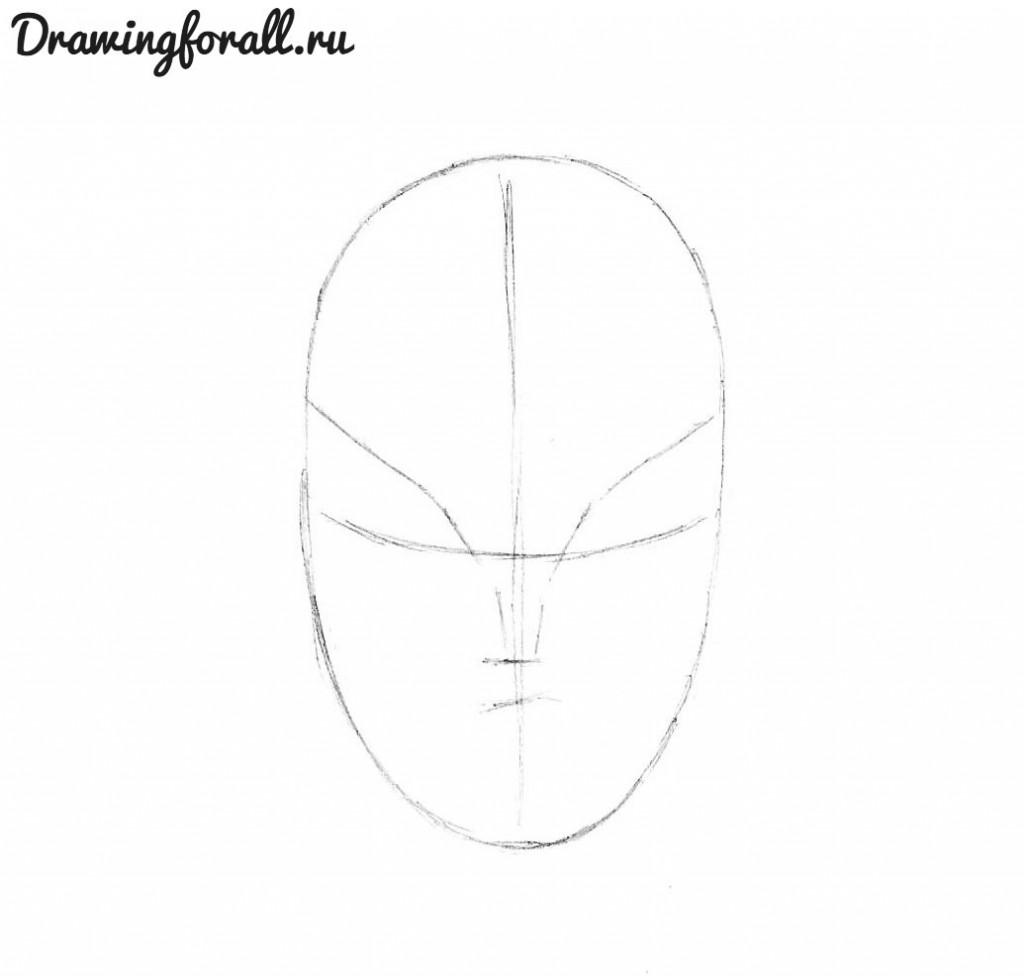 как нарисовать росомаху
