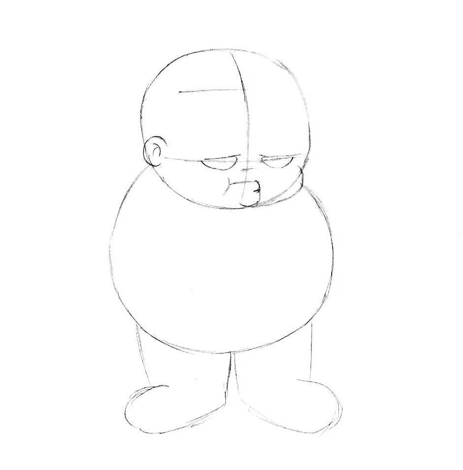 как нарисовать мультышного мальчика