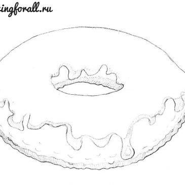 Как нарисовать пончик