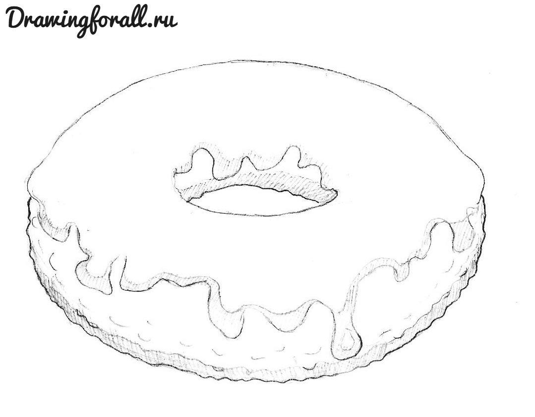 как нарисовать пончик Drawingforall Ru