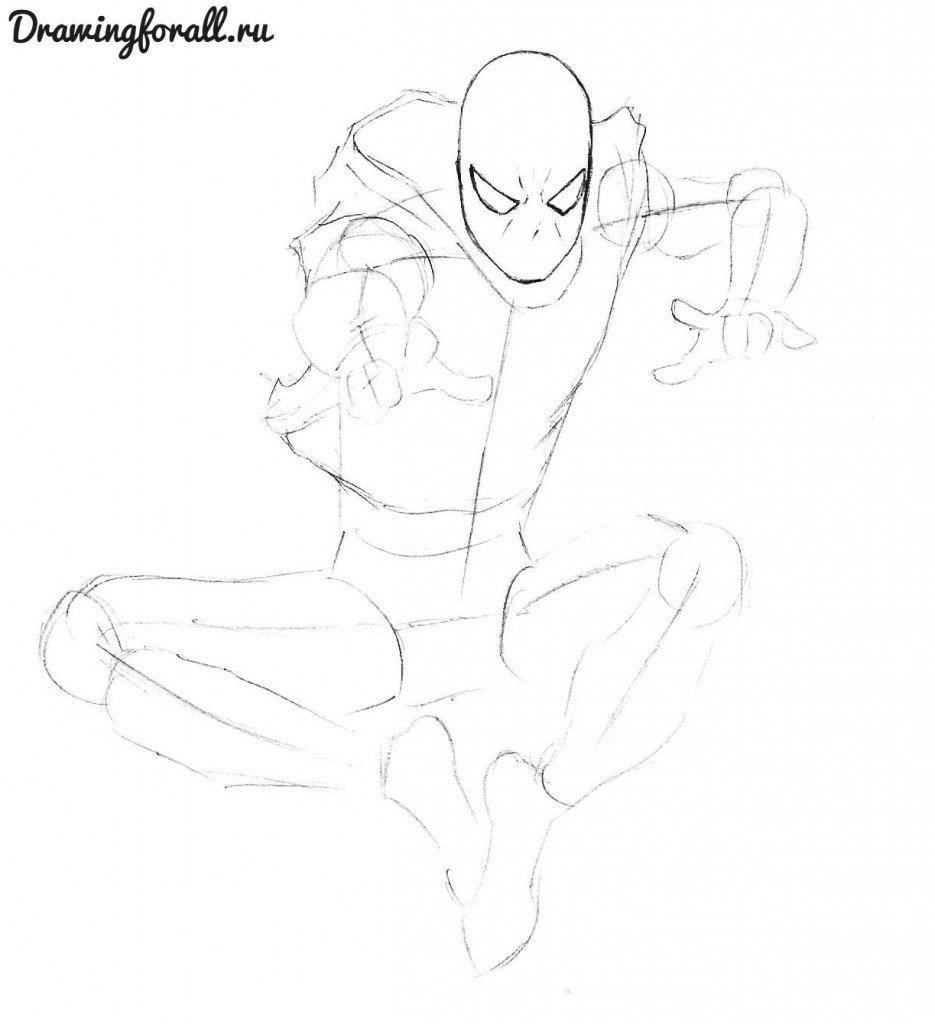 Как нарисовать нового Человека-Паука