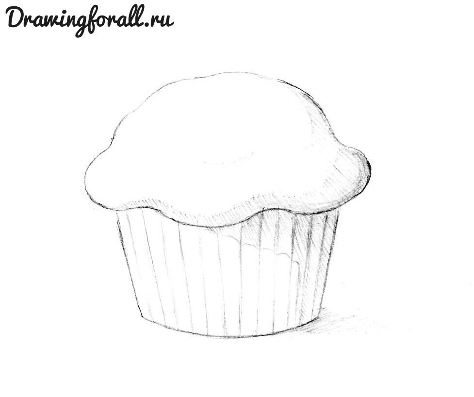 Как нарисовать кекс