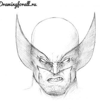 Как нарисовать маску Росомахи
