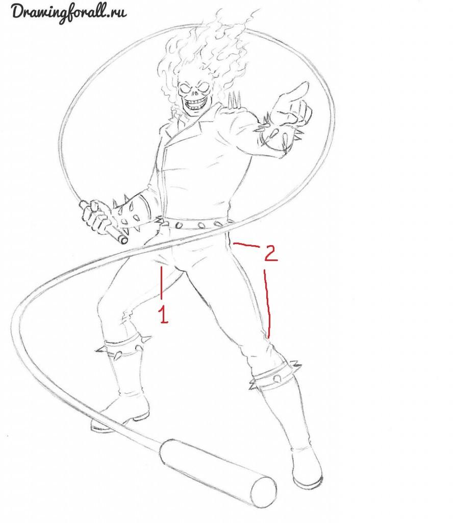 9-призрачный-гонщик-рисунок-карандашом-890x1024