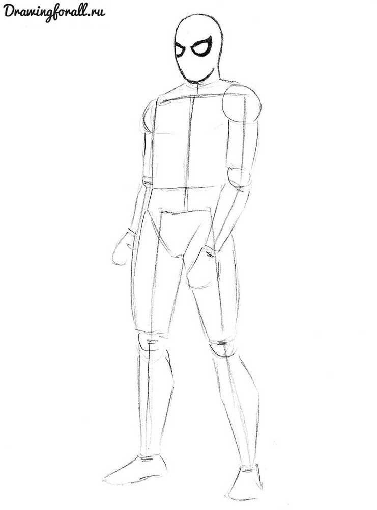 Человек-Паук нарисованный