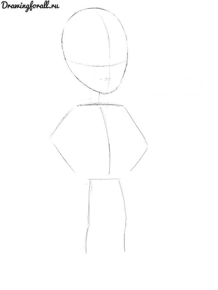 как нарисовать пришельца поэтапно