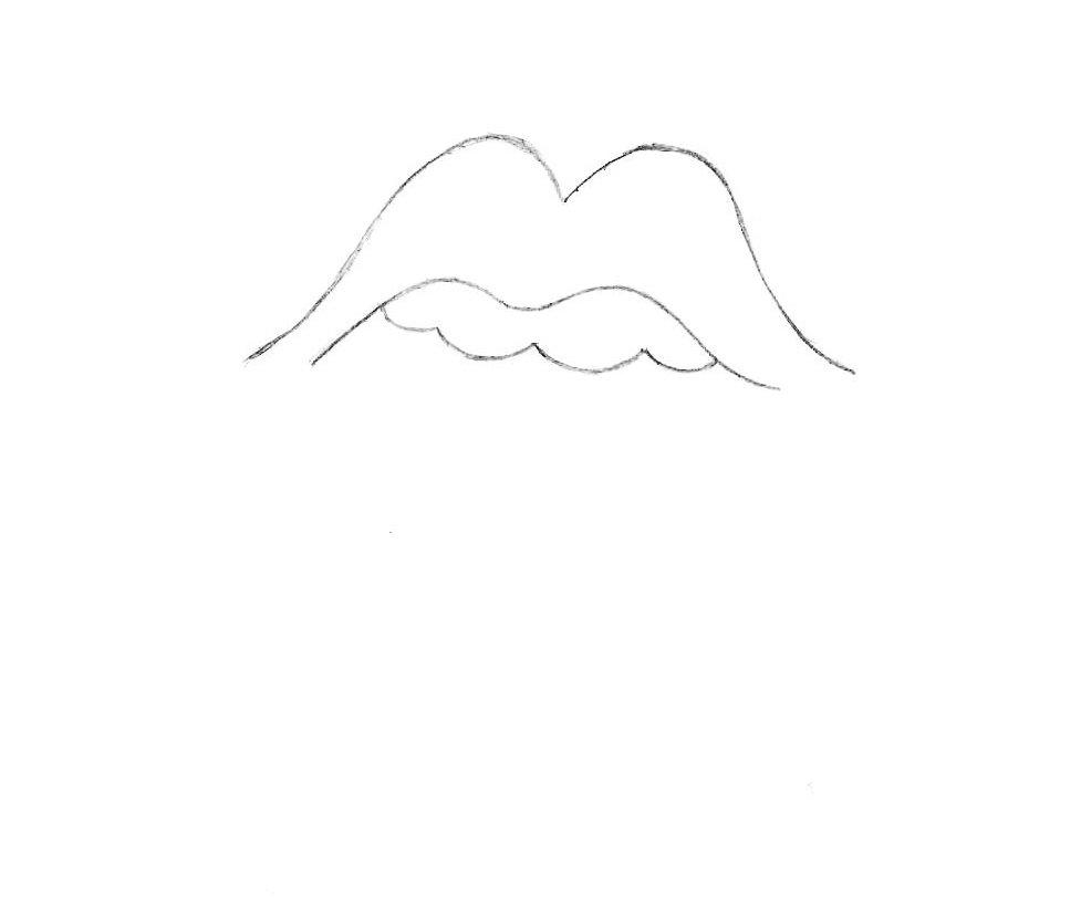 как нарисовать символ роллинг стоун