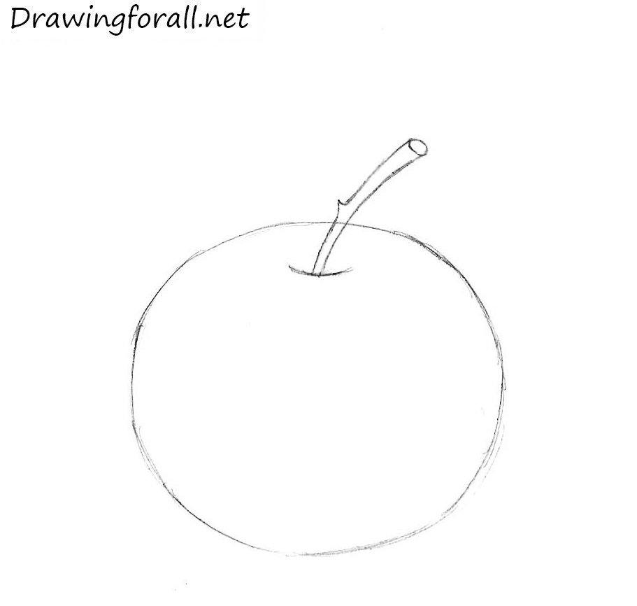 как нарисовать яблоко для детей