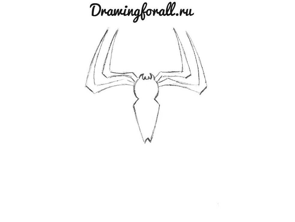 Как рисовать эмблему Человека Паука