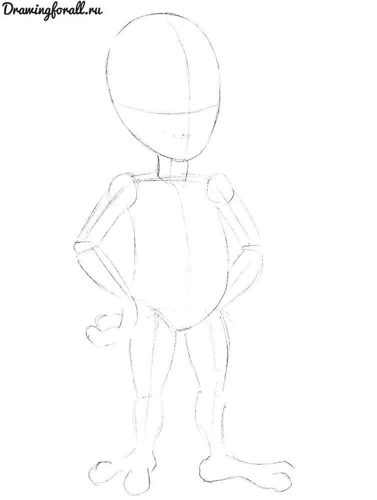 как нарисовать пришельца для начинающих