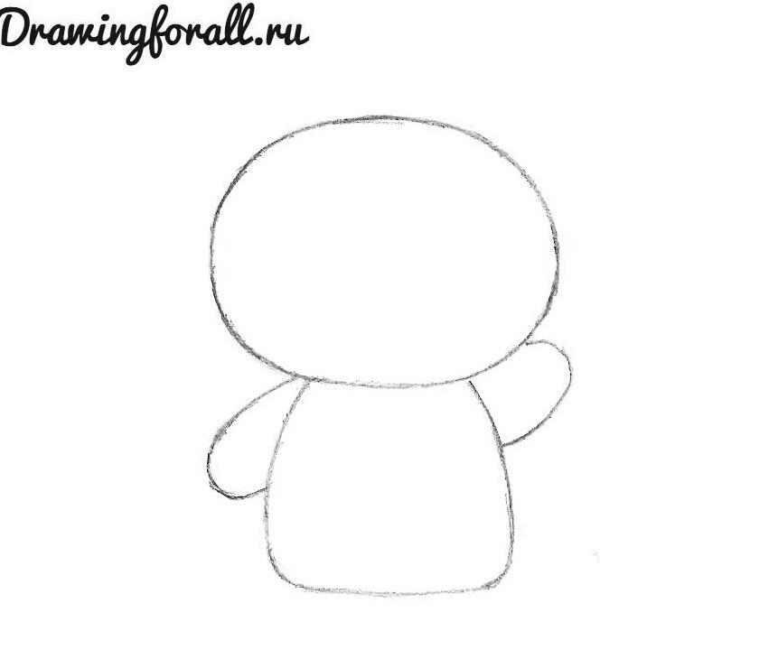 как нарисовать хелло китти поэтапно