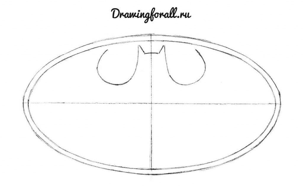 Как нарисовать эмблему Бэтмена