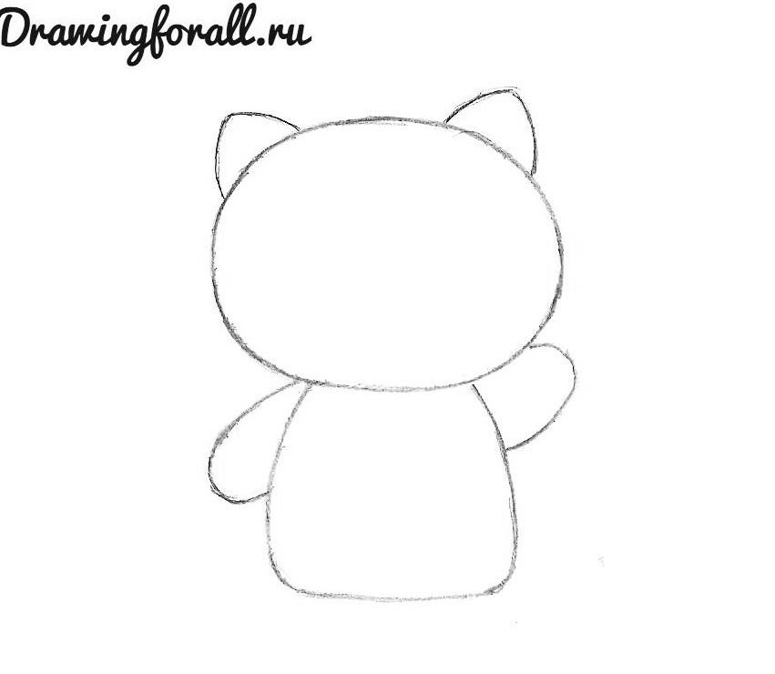 как нарисовать хелло китти карандашом